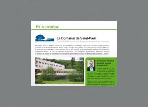 Article magazine ville saint-Rémy sur le Domaine Saint-Paul