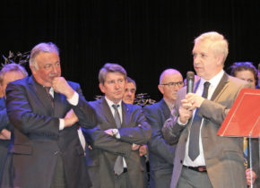 Cérémonie voeux D Bavoil et conseil municipal