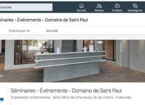 Le Domaine de Saint-Paul est sur Linkedin
