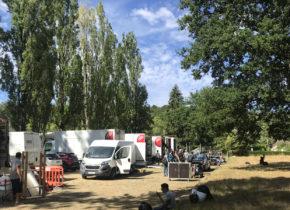 equipe production Tournage film Domaine Saint-Paul Juillet 2020