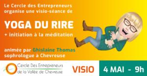 Yoga du rire par le cercle des entrepreneurs Vallée de Chevreuse le 4 mai